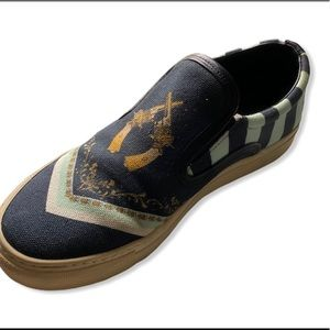 Mother of Pearl Achilles canvas slip on sneakers
